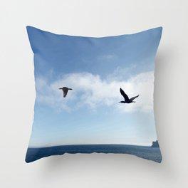 The Common Cormorant (or Shag) Throw Pillow