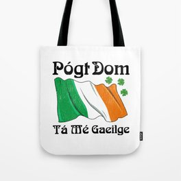 St Patrick's Day Kiss Me I'm Irish Original Language Tote Bag