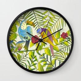 Tropical Paradise Pattern 1 Wall Clock