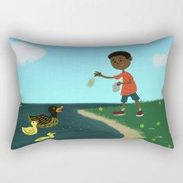 Feed the Ducks Rectangular Pillow
