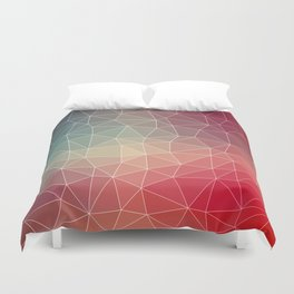 Abstract Geometric Triangulated Design Duvet Cover