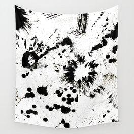 MONOCHROME SPLATTER Wall Tapestry