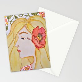 Beautiful Poppy Mixed Media Stationery Cards