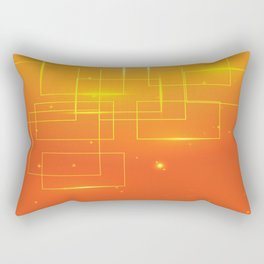 YELLOW SQUARES ON AN ORANGE BACKGROUND Abstract Art Rectangular Pillow