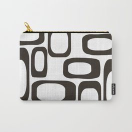 Mid Century Modern Shapes Black And White #society6 #buyart Carry-All Pouch