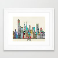 memphis Framed Art Prints featuring Memphis city by bri.buckley
