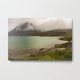 a turquoise lake in Norway  | nature photo | fine art photo print | travel photography Metal Print