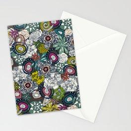 succulents multi dark Stationery Cards