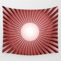 the shining Wall Tapestries featuring SHINING SUN by Michelito