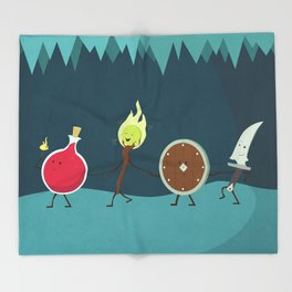Let's All Go On an Adventure Throw Blanket