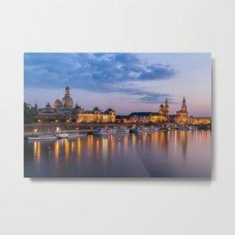 Dresden old town skyline, Germany Metal Print