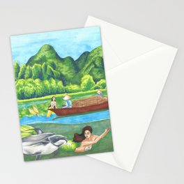 Mermaids in the Mekong Stationery Cards