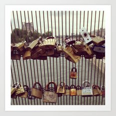 Paris Love Padlocks Art Print