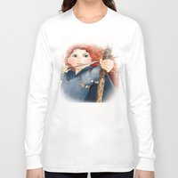 merida Long Sleeve T-shirts featuring Merida  by Teddy Wade