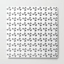 Traditional Rose Pattern Metal Print