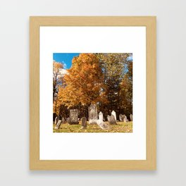 Graveyards Can Be Beautiful Too Framed Art Print