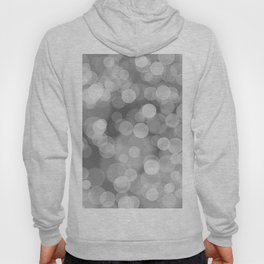 Black and White Silver Bokeh Hoody