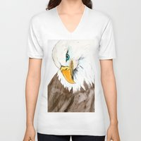 study V-neck T-shirts featuring Study by Caballos of Colour