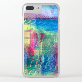 Rainbow smudged Clear iPhone Case