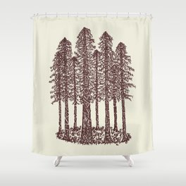 Cathedral Grove (Coastal Redwoods) Shower Curtain