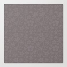Mocha Doodles Canvas Print