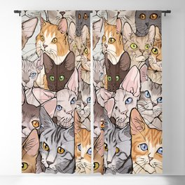 A lot of Cats Blackout Curtain