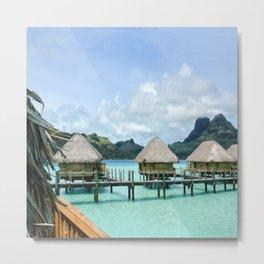 Tahitian Paradise View Metal Print