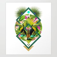 kris tate Art Prints featuring ▲ TROPICANA ▲ by KRIS TATE x BOHEMIAN BLAST by ▲ BOHEMIAN BLAST ▲