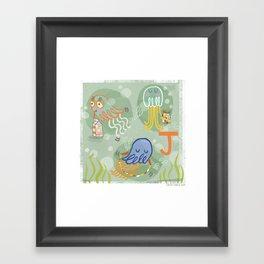 """""""J"""" Framed Art Print"""