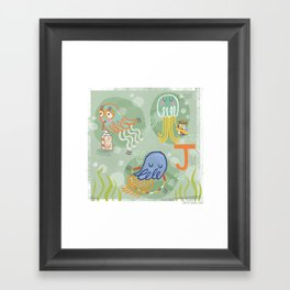 """J"" Framed Art Print"