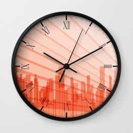 City Abstract Background Wall Clock