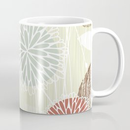 Abstract Floral Beige by Friztin Coffee Mug
