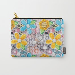 Paper Flower Power Carry-All Pouch