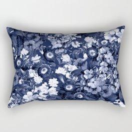 Bohemian Floral Nights in Navy Rectangular Pillow