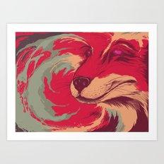 FOX DIE Art Print