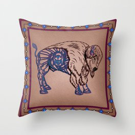 Pueblo Buffalo Throw Pillow