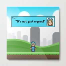 It's not just a Game! [Female Version 1] Metal Print