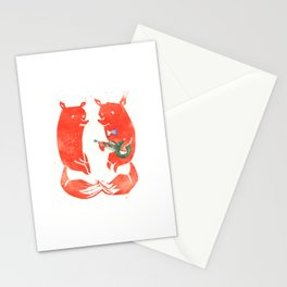 Mister Fox in love Stationery Cards
