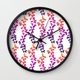 Multi-coloured leaves pattern Wall Clock