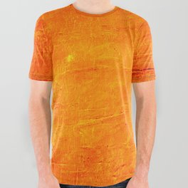 Orange Sunset Textured Acrylic Painting All Over Graphic Tee