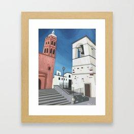 Church Towers Framed Art Print