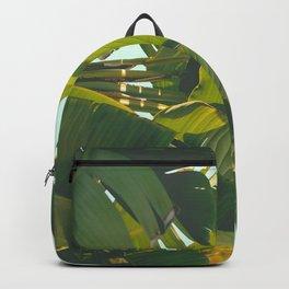 Banana Leaves II (Turquoise) Backpack