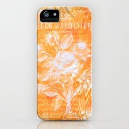 French Twist Orange iPhone Case