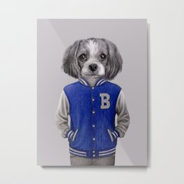 dog boy portrait Metal Print