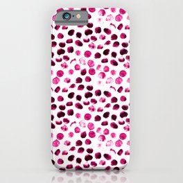 Fashion dot painting pattern illustration iPhone Case
