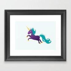 Violet unicorn Framed Art Print