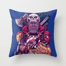Wild Thanos Throw Pillow