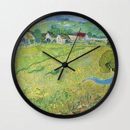 Vincent Van Gogh View Of Vessenots Near Auvers Wall Clock