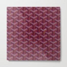 Goyard purple Metal Print