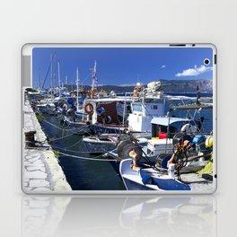 Fishing boats of Corfu Town Laptop & iPad Skin